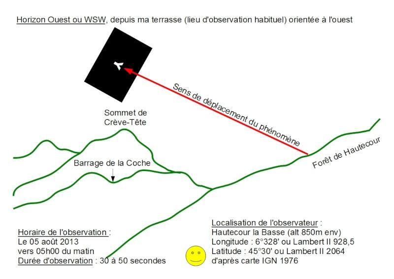 2013: le 05/08 à 05h00 - objet lumineux en forme de Y retournéOvni en Forme de triangle - Hautecour - Savoie (dép.73) Dessin10
