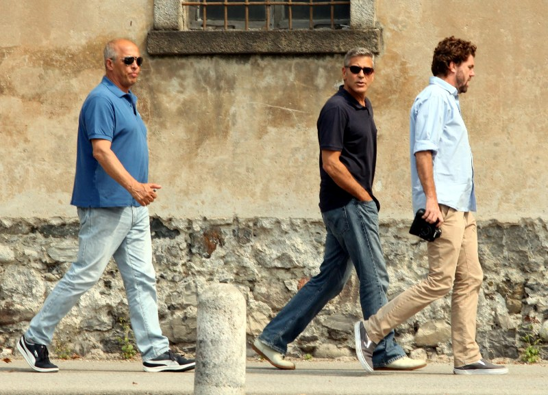 George Clooney with friends in Bellagio, Italy 19-07-2013 Cloone12