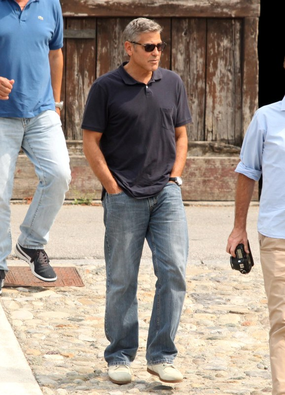 George Clooney with friends in Bellagio, Italy 19-07-2013 Cloone13