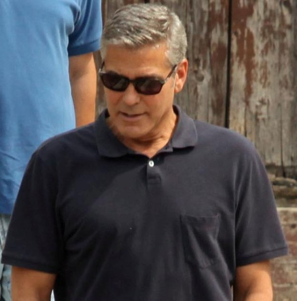George Clooney with friends in Bellagio, Italy 19-07-2013 Cloone15