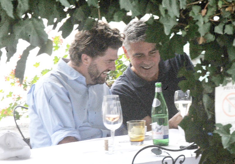 George Clooney with friends in Bellagio, Italy 19-07-2013 Cloone17