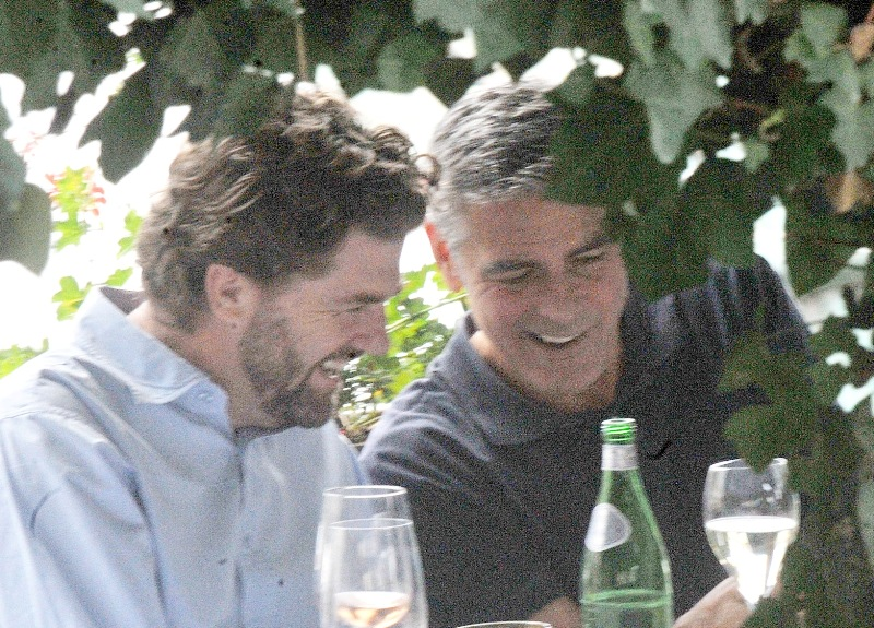 George Clooney with friends in Bellagio, Italy 19-07-2013 Cloone20