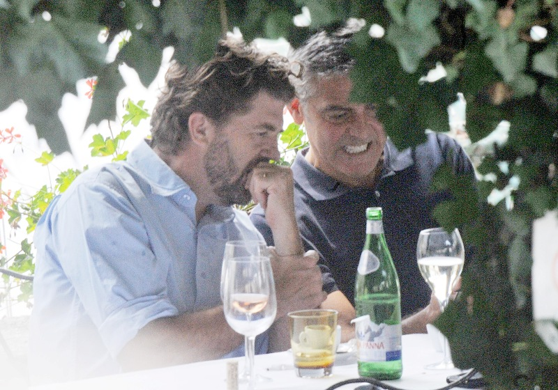 George Clooney with friends in Bellagio, Italy 19-07-2013 Cloone21