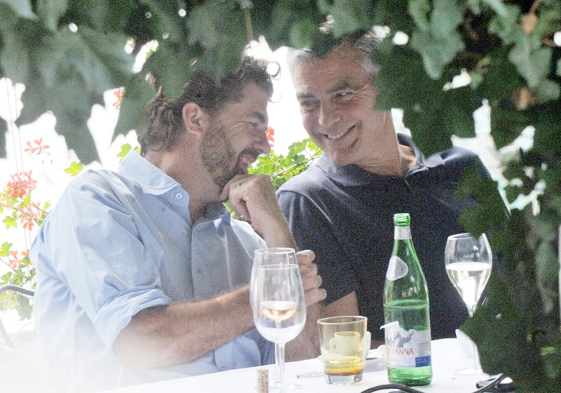 George Clooney with friends in Bellagio, Italy 19-07-2013 Cloone25