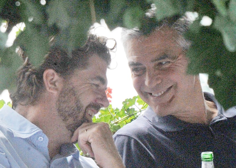 George Clooney with friends in Bellagio, Italy 19-07-2013 Cloone26