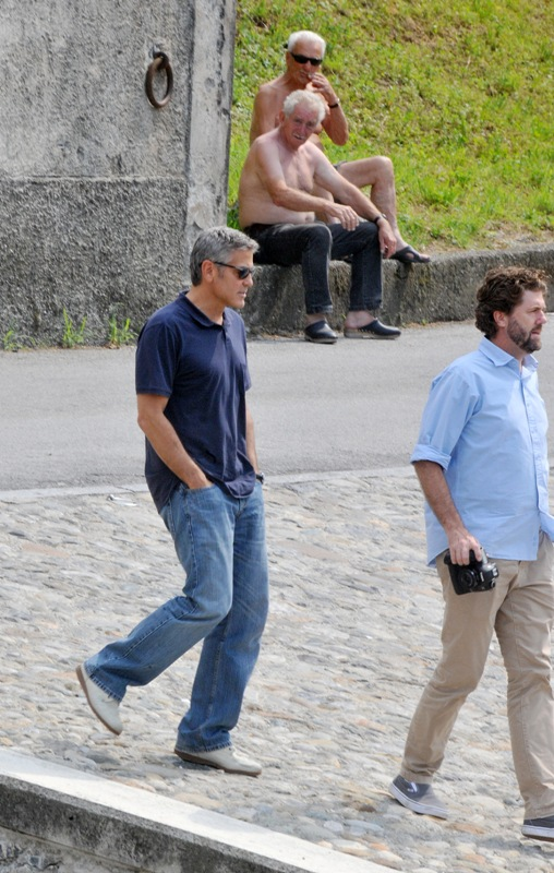 George Clooney with friends in Bellagio, Italy 19-07-2013 Cloone28