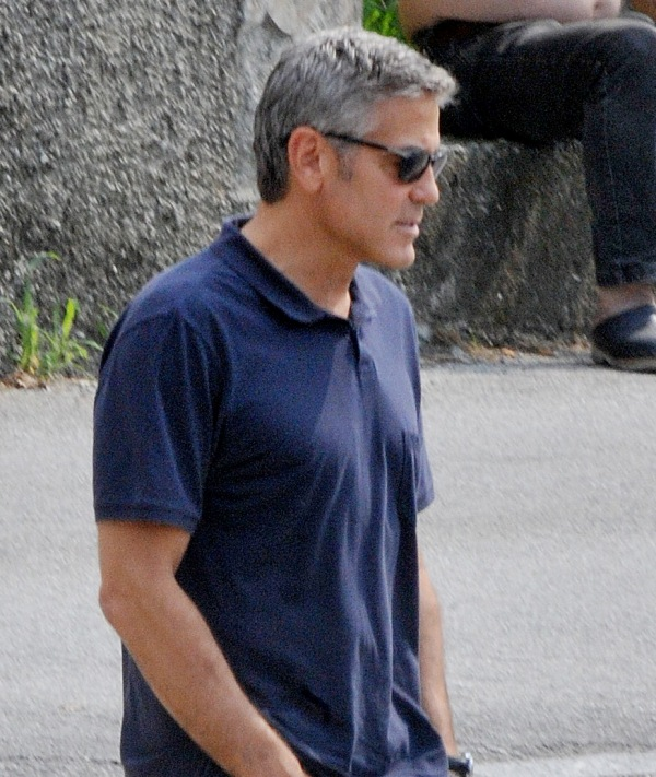 George Clooney with friends in Bellagio, Italy 19-07-2013 Cloone29