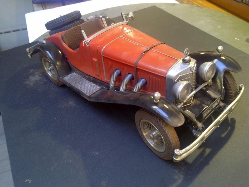 MERCEDES-BENZ SSK ROADSTER 1928 : (  DIORAMA 1/18 ) Saint-81