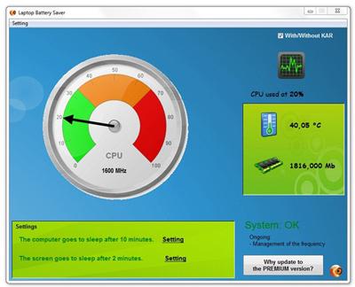 "Gestiona la energía de su portatil ""Laptop Battery"" 63520910"