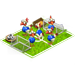 Poulaillers / Poulailler Coloré / Poulailler des Bleus / Poule Football / Poulailler Flocon de Neige => Oeuf Footba11