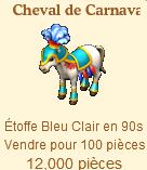 Cheval Carnaval => Etoffe Bleu Claire Sans_507