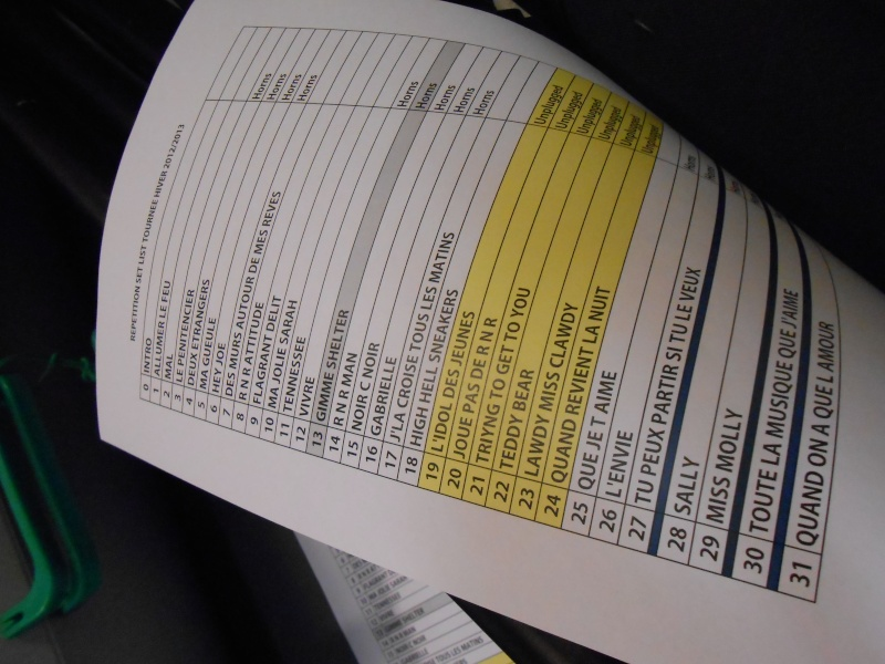 Répétitions Tournée hiver : la set list Dscn0313