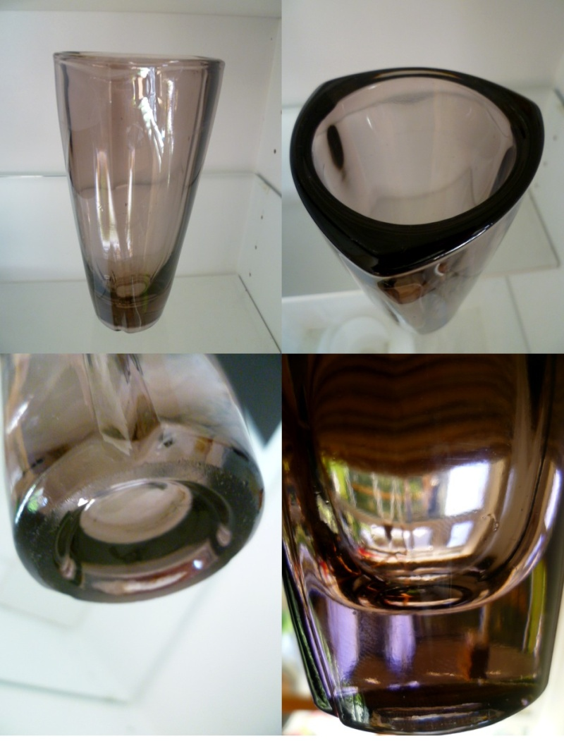 Riihimaki Vase with Kaj Franck bullseye candle holder top Akaj10