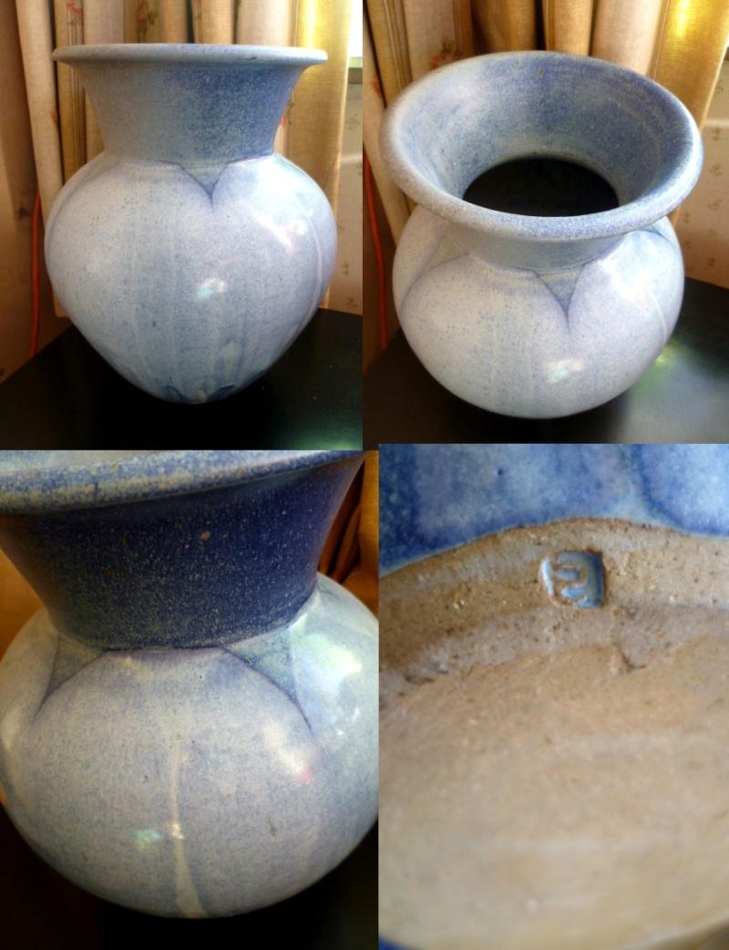 Large Pastel glaze urn vase, reverse S mark - Suzanne Bergne?  Ateaur10