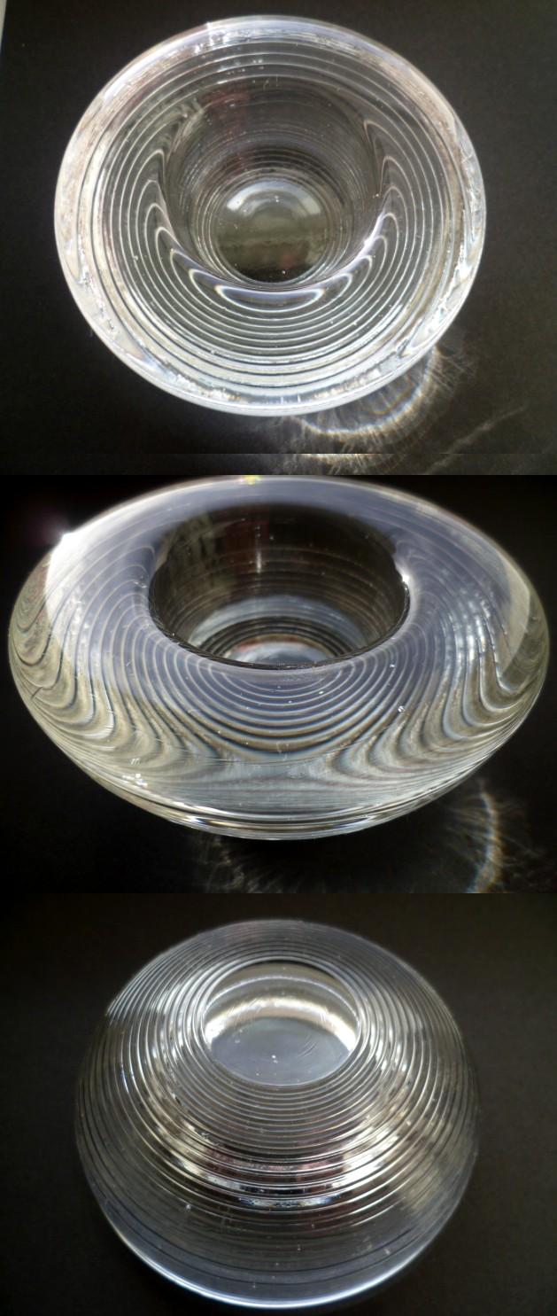 Raised concentric ringed based votive - looks Kosta/Orrefors Avotiv10