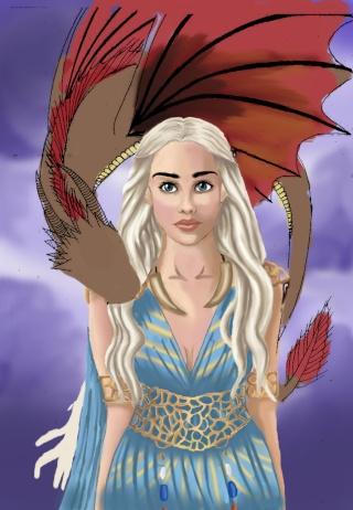 Daenerys Digital paint' [evapowa] Dae14