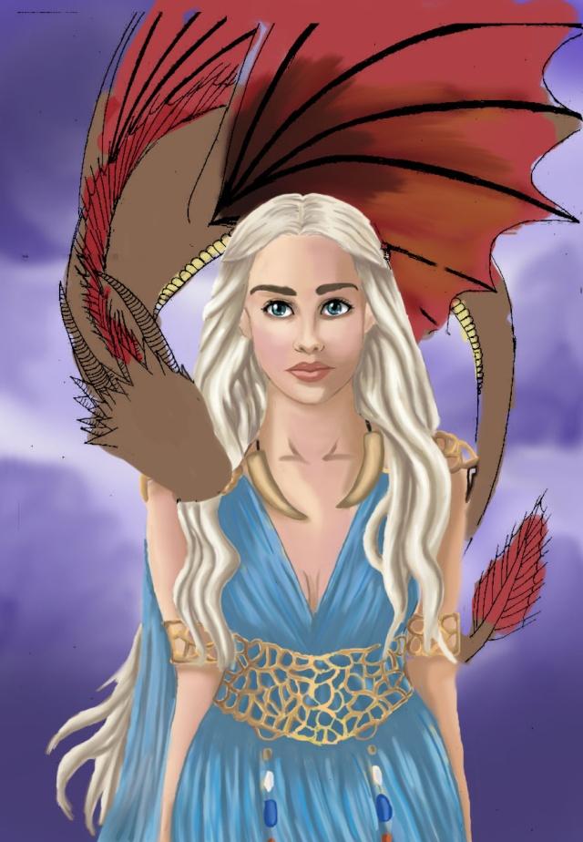 Daenerys Digital paint' [evapowa] Dae16