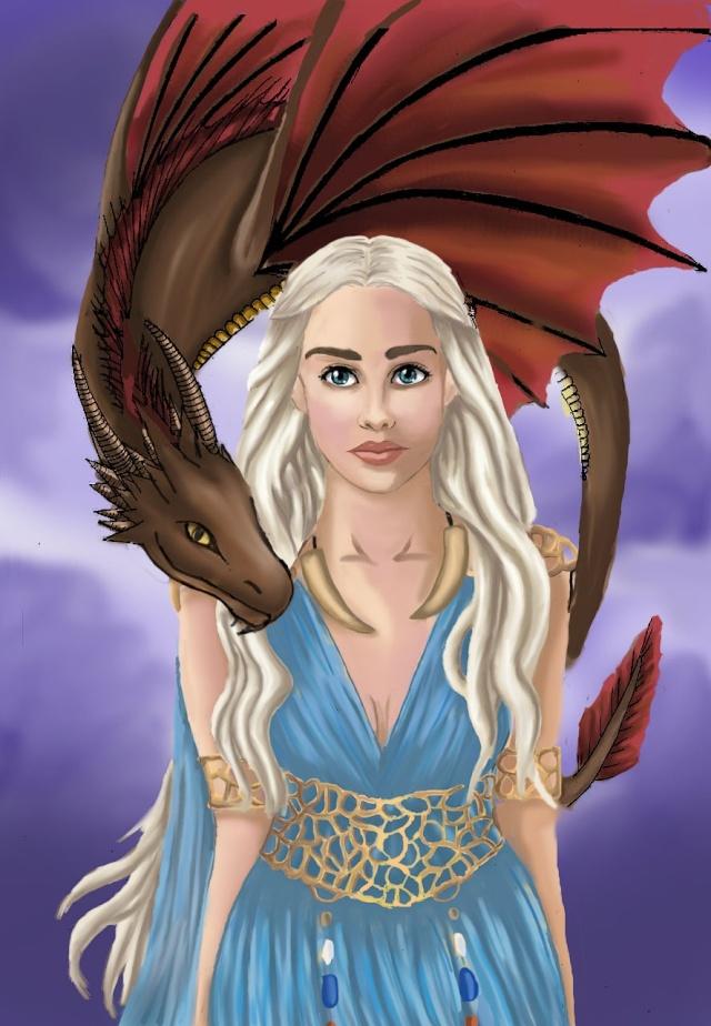 Daenerys Digital paint' [evapowa] Dae18