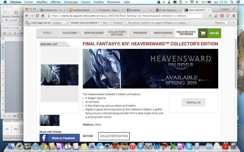FF XIV Heavensward édition collector Captur12