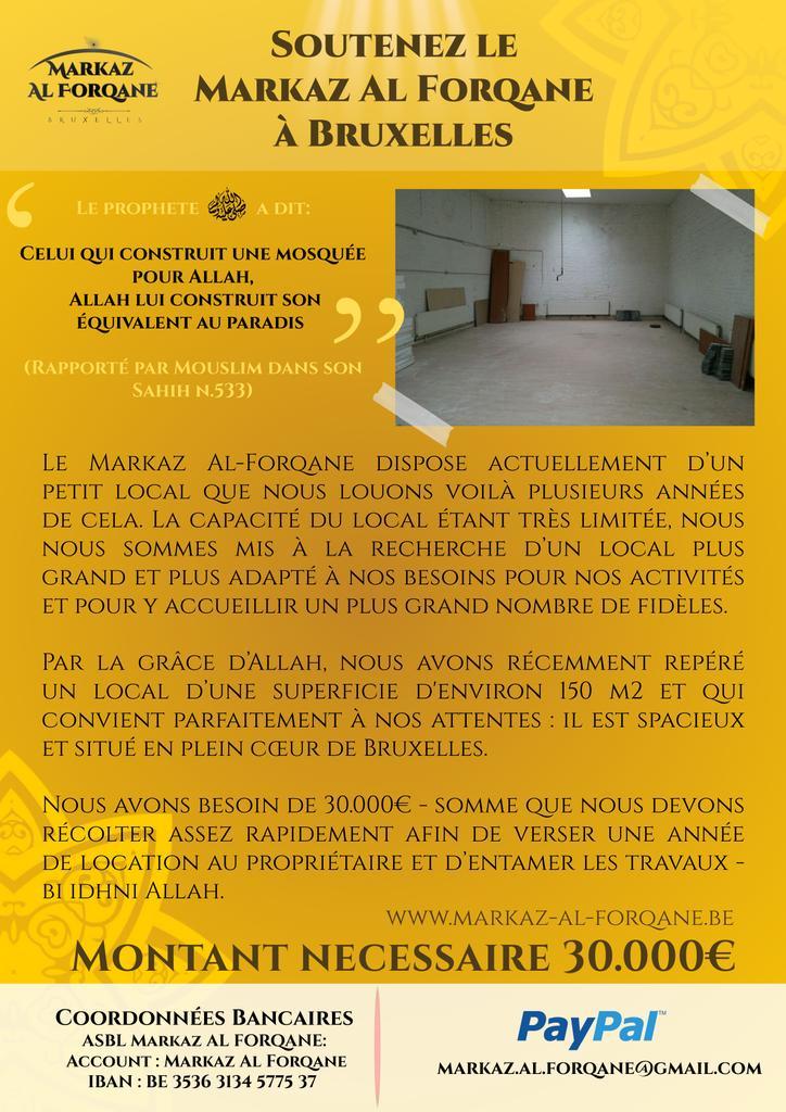 Grandir la oumma salafiyya en Belgique enfin le projet avance Futur Mosquée  B70ad010