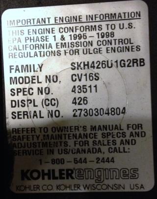15 hp kohler Cv16s_11