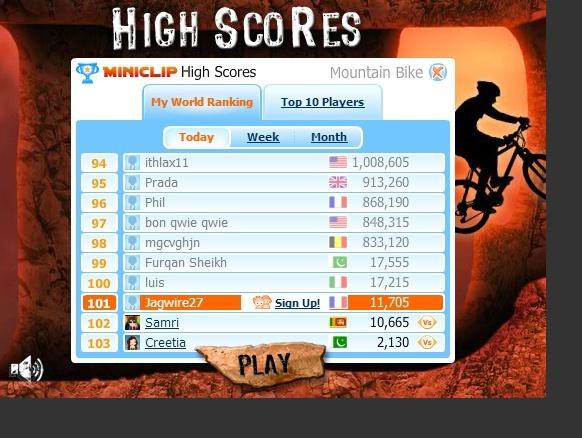 Jeux vidéo VTT en ligne Vtthn10