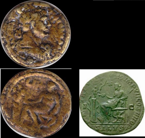 Copie d' une monnaie de Trajan ou Hadrien ... 31igor19