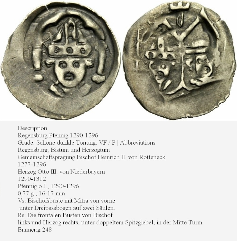 Pfalz-Oberpfalz pfennig ruppert 1er 14ème siécle Otto_i10