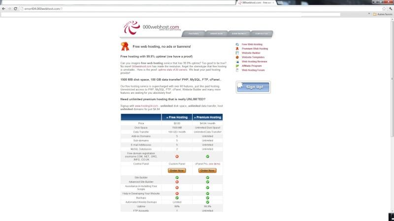 Problème site officiel Erreur11