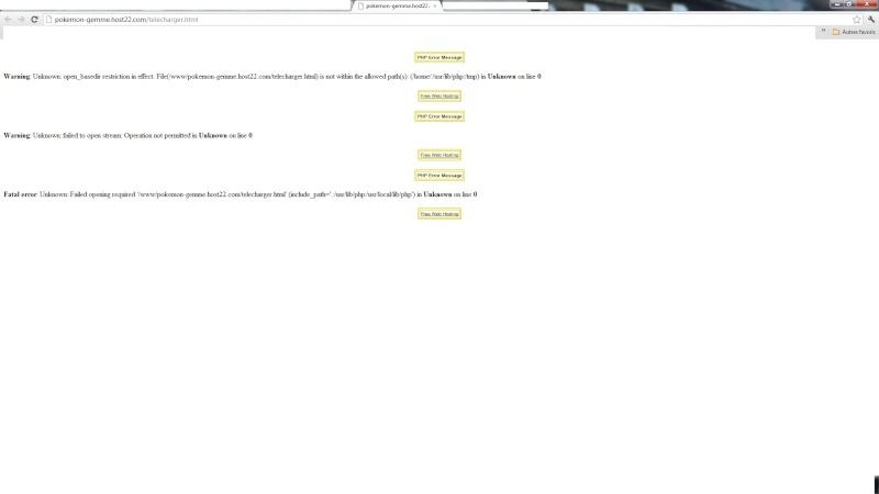 Problème site officiel Erreur12