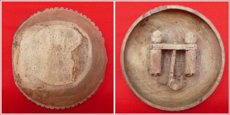 Bol cérémoniel pour la chicha-Bolivie. Bol-sculpture attelage boeufs monoxyle Plat_210