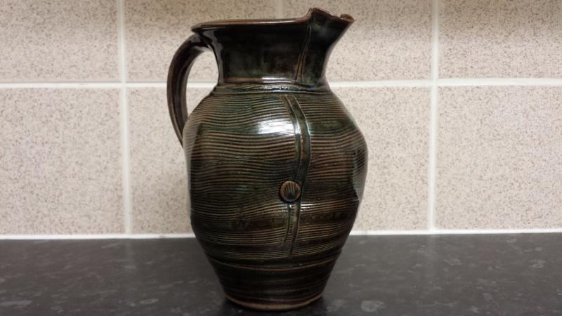 Stoneware jug, LD or LT? Lowerdown? -  Louis Thompson?  20150120