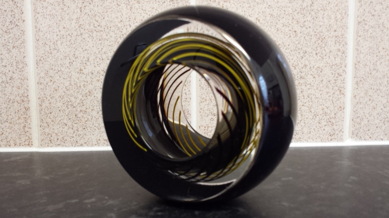 Id help please on Glass Sculpture Signed R GLASS designed SPIRO  20150323