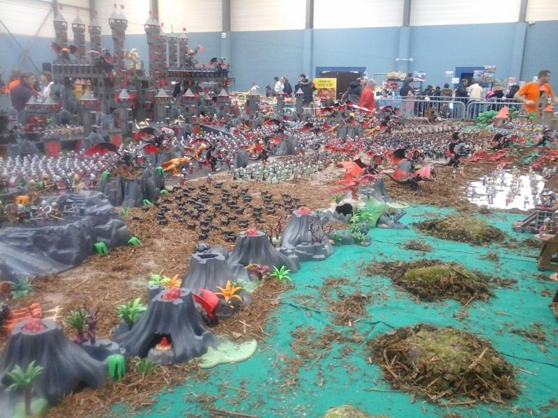 diorama geant playmobil medieval (st cyr en val) 20150114