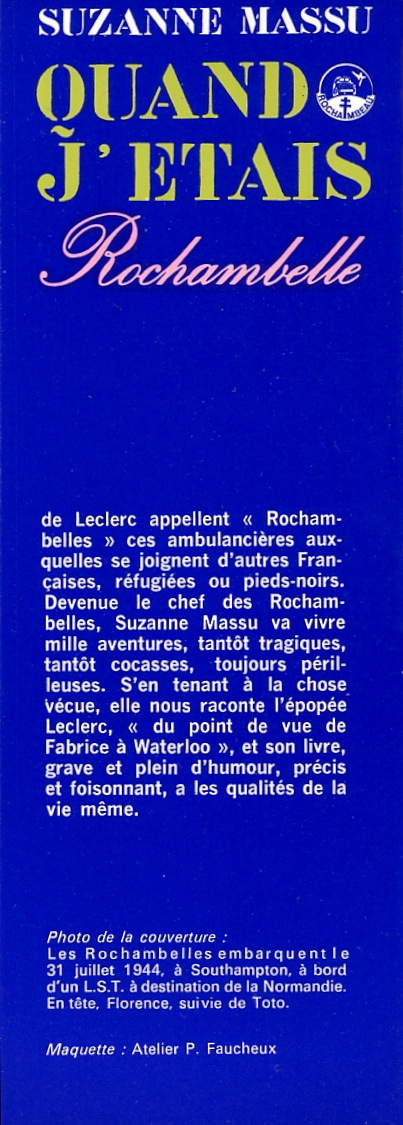 Suzanne MASSU - Quand j'étais Rochambelle Img86910