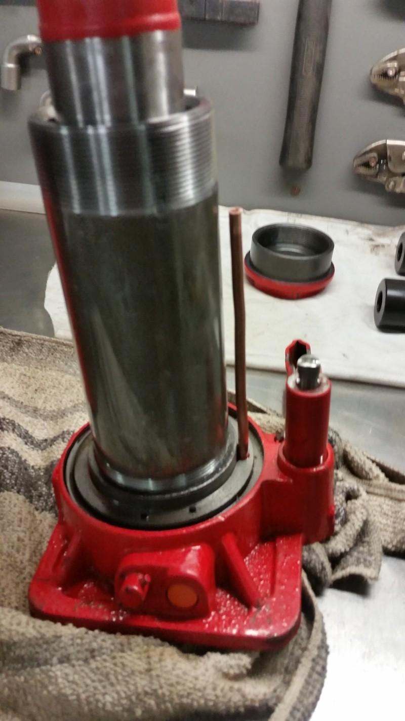 Modifications cric voiture pour presse hydraulique. Prepa_21