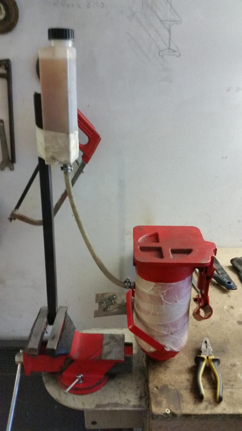 Modifications cric voiture pour presse hydraulique. Prepa_23