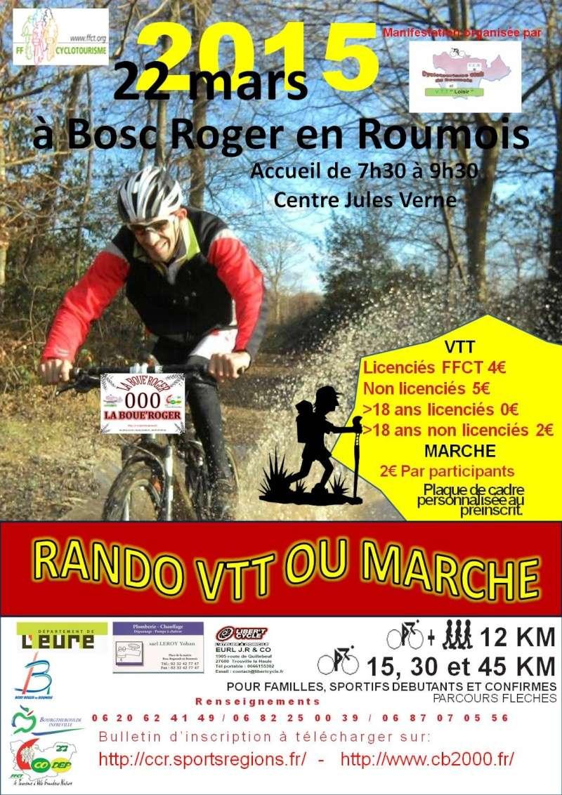 [Dimanche 22 mars 2015]LA BOUE'ROGER rando vtt et marche 6 ème Edition Affich11