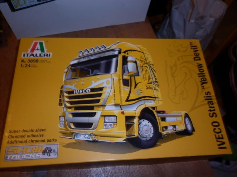 """MMaqtte camions IVECO STRALIS """"YELLOW DEVIL """" AU 1/24 DE CHEZ ITALERI  P1000537"""