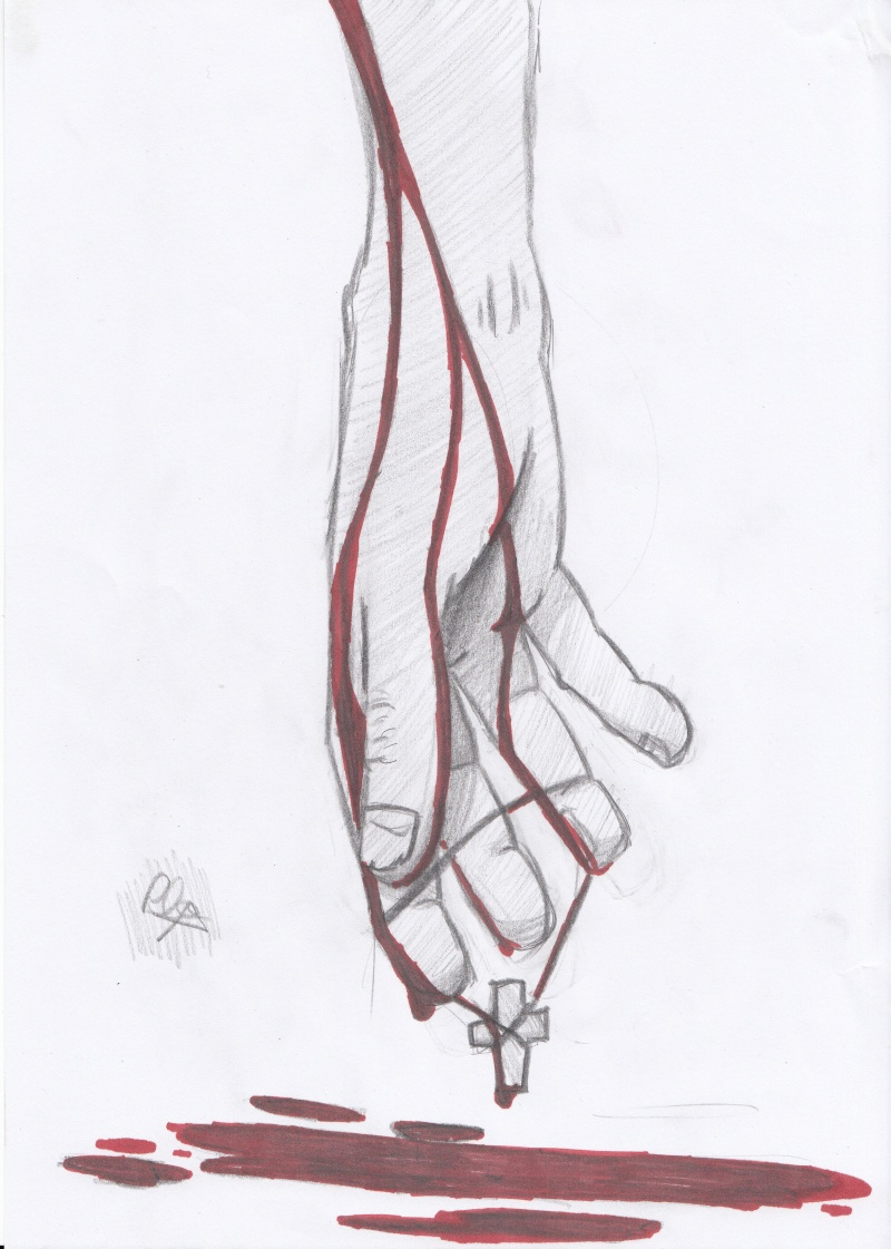 Main ensanglantée  Main10