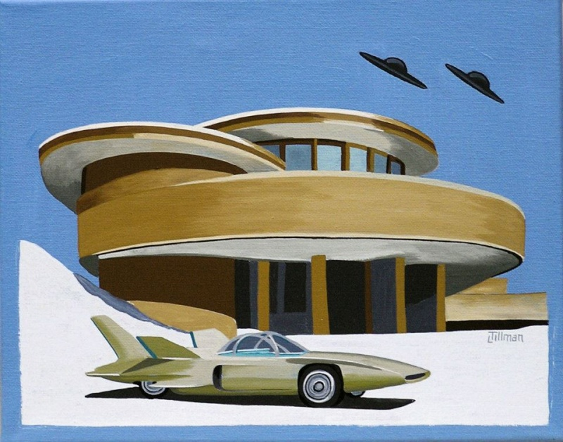 Mid Century Modern Retro Paintings by LTillmanArt 10151810
