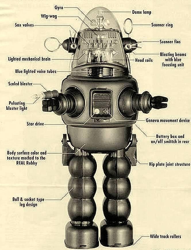 Futuristic & Atomic Robot - Robots futuristes & rétro 10393110