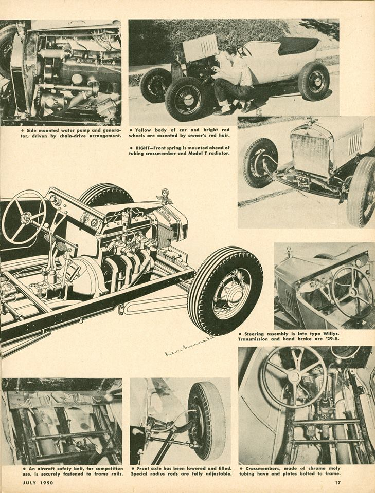 """Hot Rod Magazine March 1950 -""""T"""" Touring Transformed 10429311"""