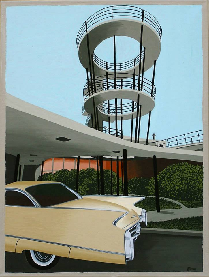 Mid Century Modern Retro Paintings by LTillmanArt 10540710