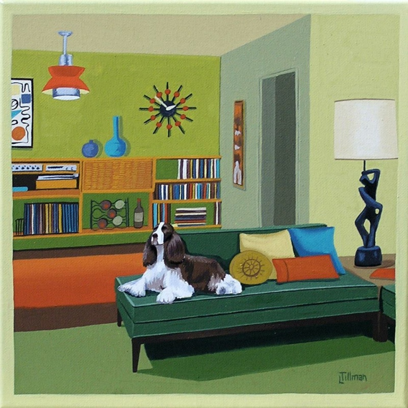 Mid Century Modern Retro Paintings by LTillmanArt 10896916