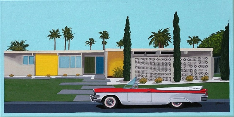 Mid Century Modern Retro Paintings by LTillmanArt 10940414