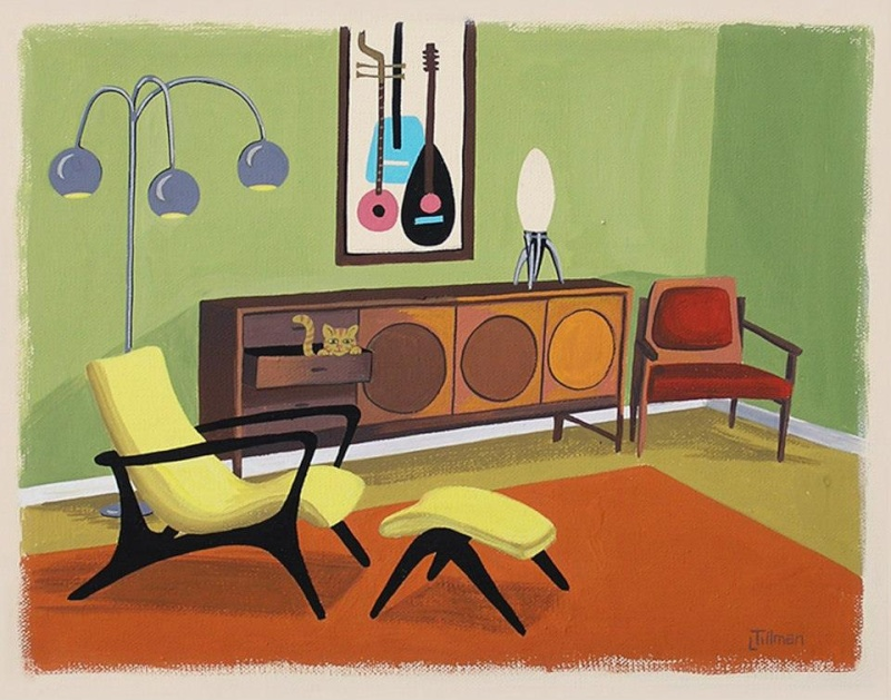 Mid Century Modern Retro Paintings by LTillmanArt 10947112