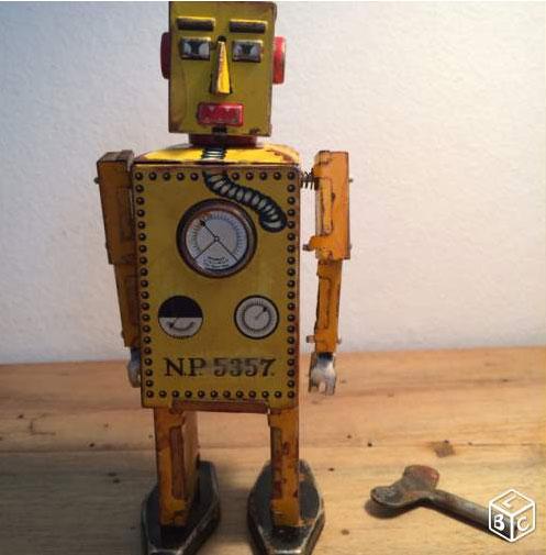 Robots jouets vintages - vintage robot toys 1107