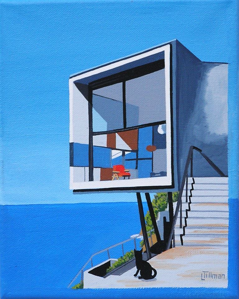 Mid Century Modern Retro Paintings by LTillmanArt 13804610