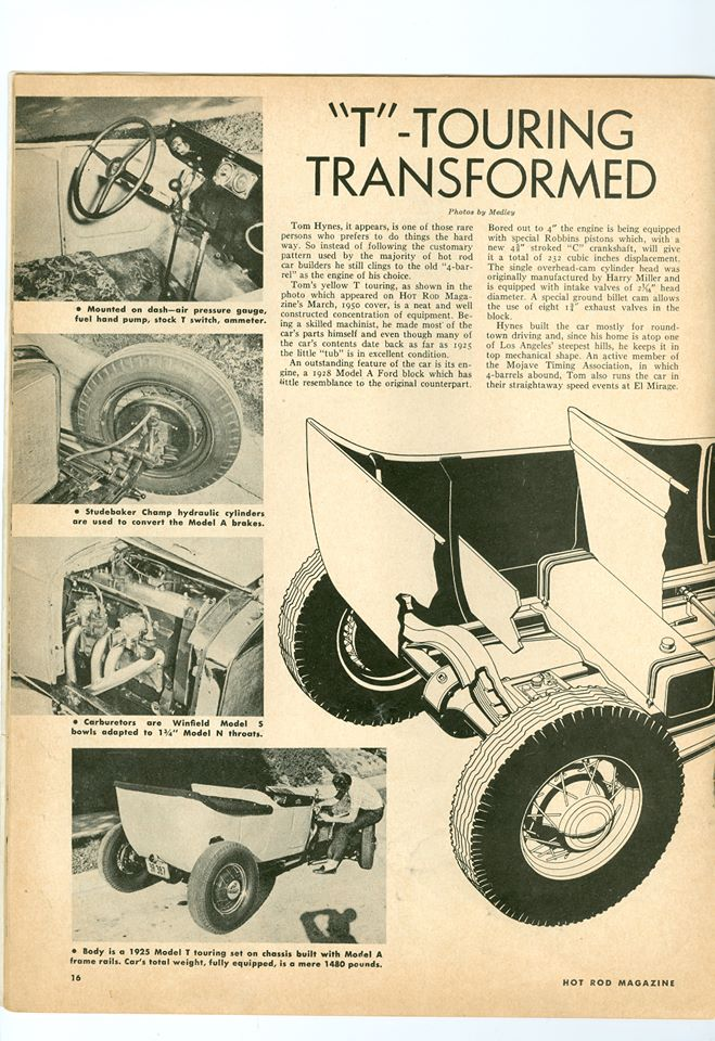 """Hot Rod Magazine March 1950 -""""T"""" Touring Transformed 14613610"""